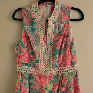 NWT Lilly Pulitzer Franci High Collar Dress